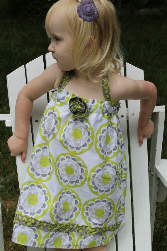 Sale Rosette Halter Dress by EllaJaneBoutique on Etsy, $20.00