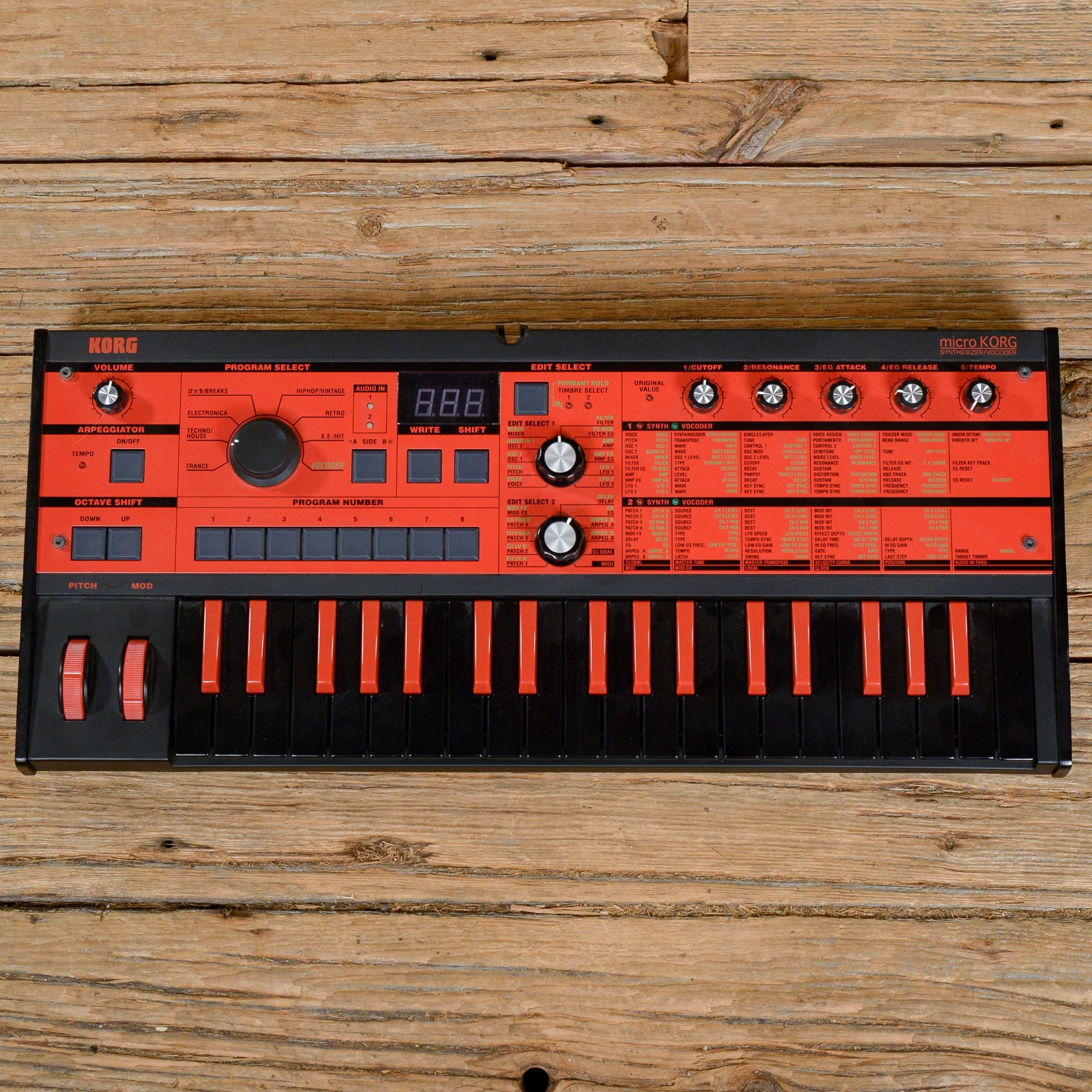 Korg microKorg Black/Red Limited Edition USED | All things synth