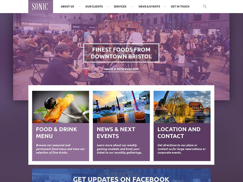 Sonic Pub Homepage Web Inspiration Drupal Web Design