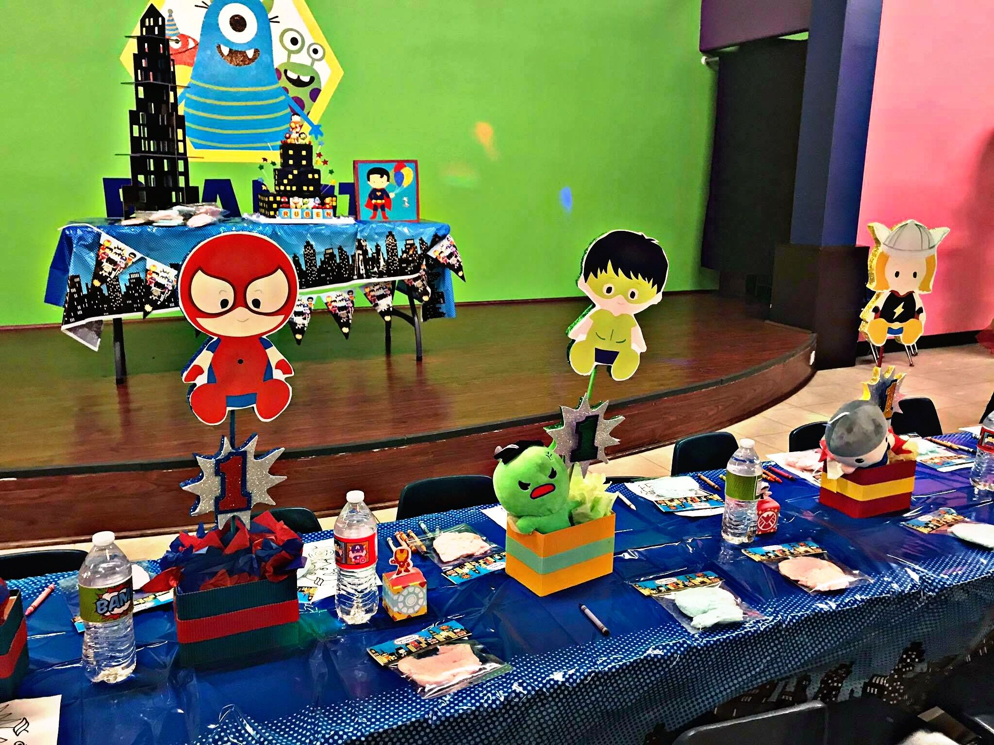 Baby Superhero Centerpieces! Baby Spider-Man! Baby Hulk! Baby Thor ...