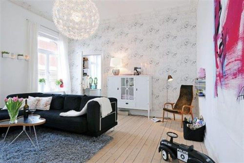 Living Room Scandinavian Wallpaper - Best Home Decorating Ideas ...