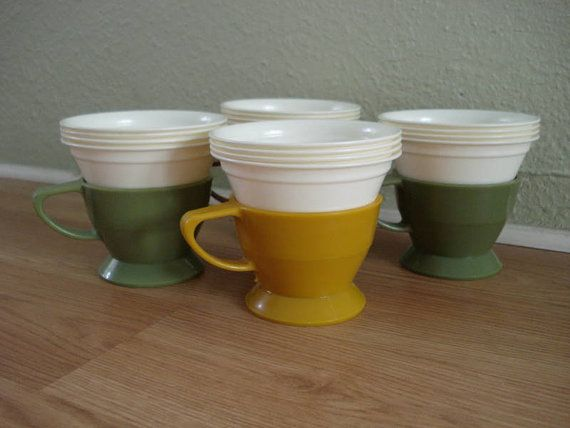Vintage 1970s Coffee Cups Solo Cozy Holders 2012146