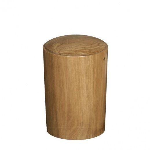 Klassische runde Urne aus Eichenholz »Voltaire ...