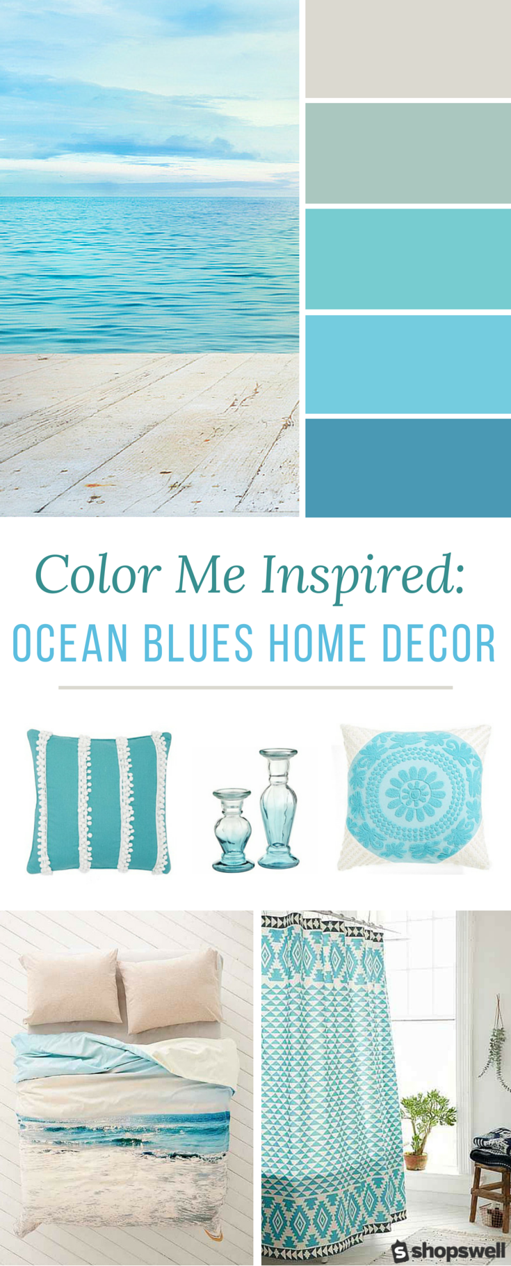 Color Me Inspired Ocean Blues Home Decor Inspiration In