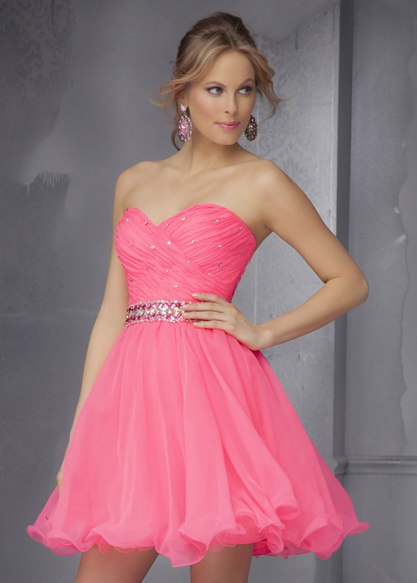 Sticks & Stones by Mori Lee 9281 Hot Neon Party Dress | Homecoming ...