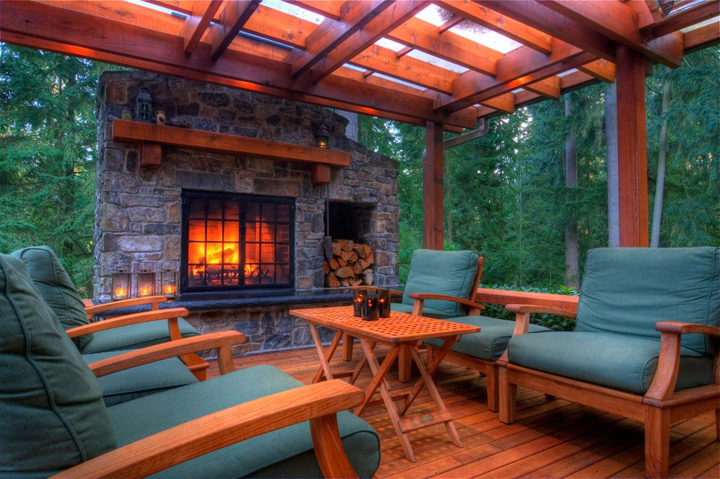 outdoor deck fireplaces. Romantic Patio Design With Outdoor Wooden Deck And Green Couches Surprising Fireplaces Gallery  Best inspiration home