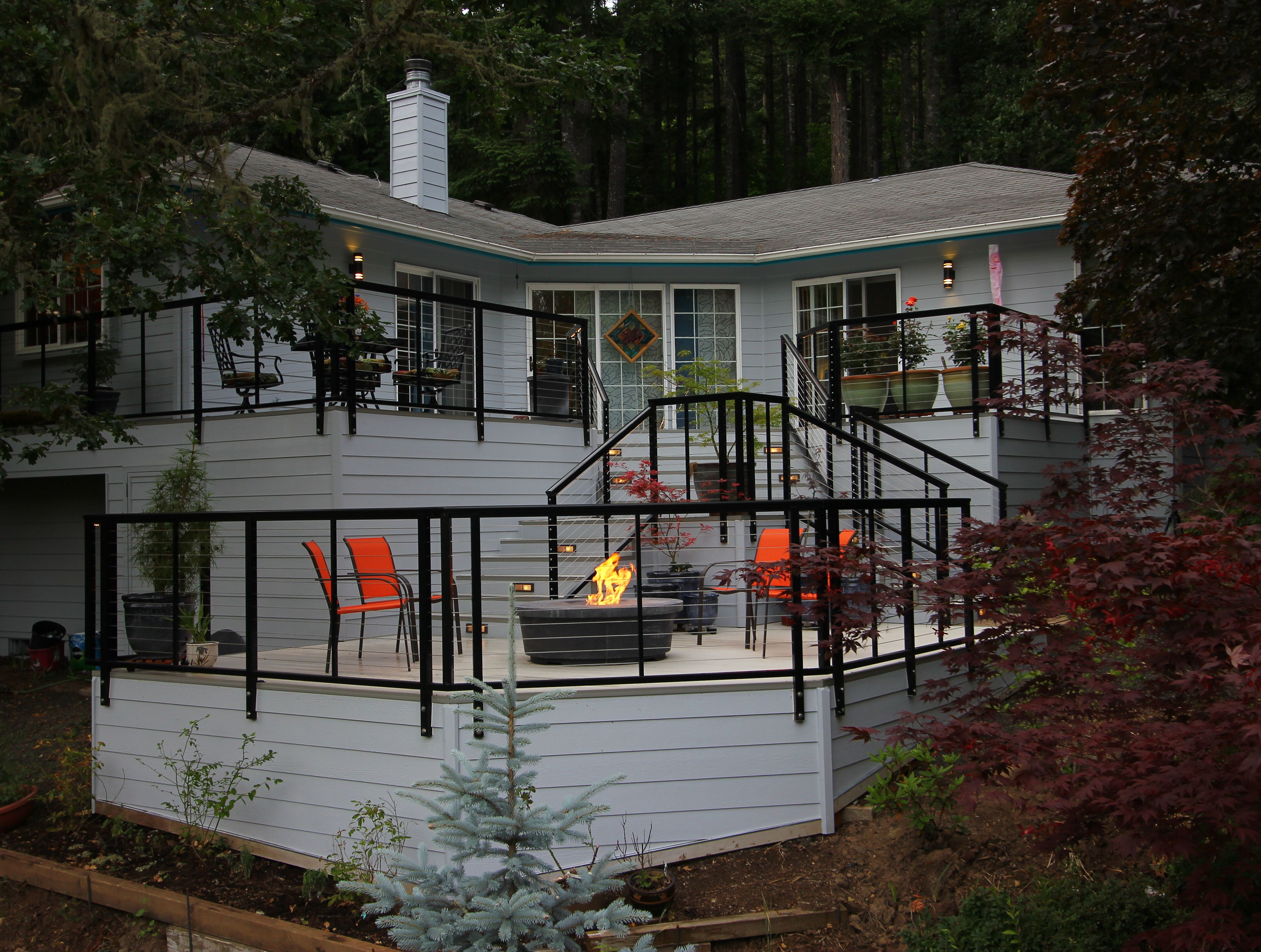 Christianson Construction Designed And Built This Aluminum Tri Level Deck With