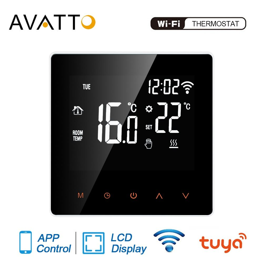 Avatto Remote Controller Smart Thermostat Temperature Tuya Wifi Electric Floor Heating Gas Boiler Digital Thermostat Smart Thermostats