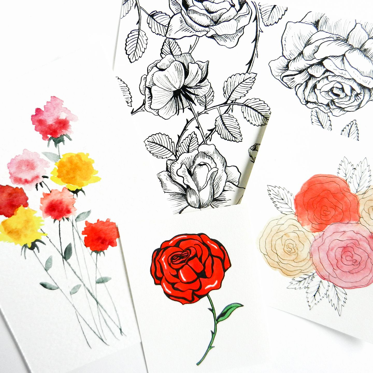 How to draw roses pinterest beautiful flowers tutorials and flower this step by step tutorial teaches you how to draw roses five different ways youll be surprised at how quickly and easily you can draw beautiful flowers izmirmasajfo