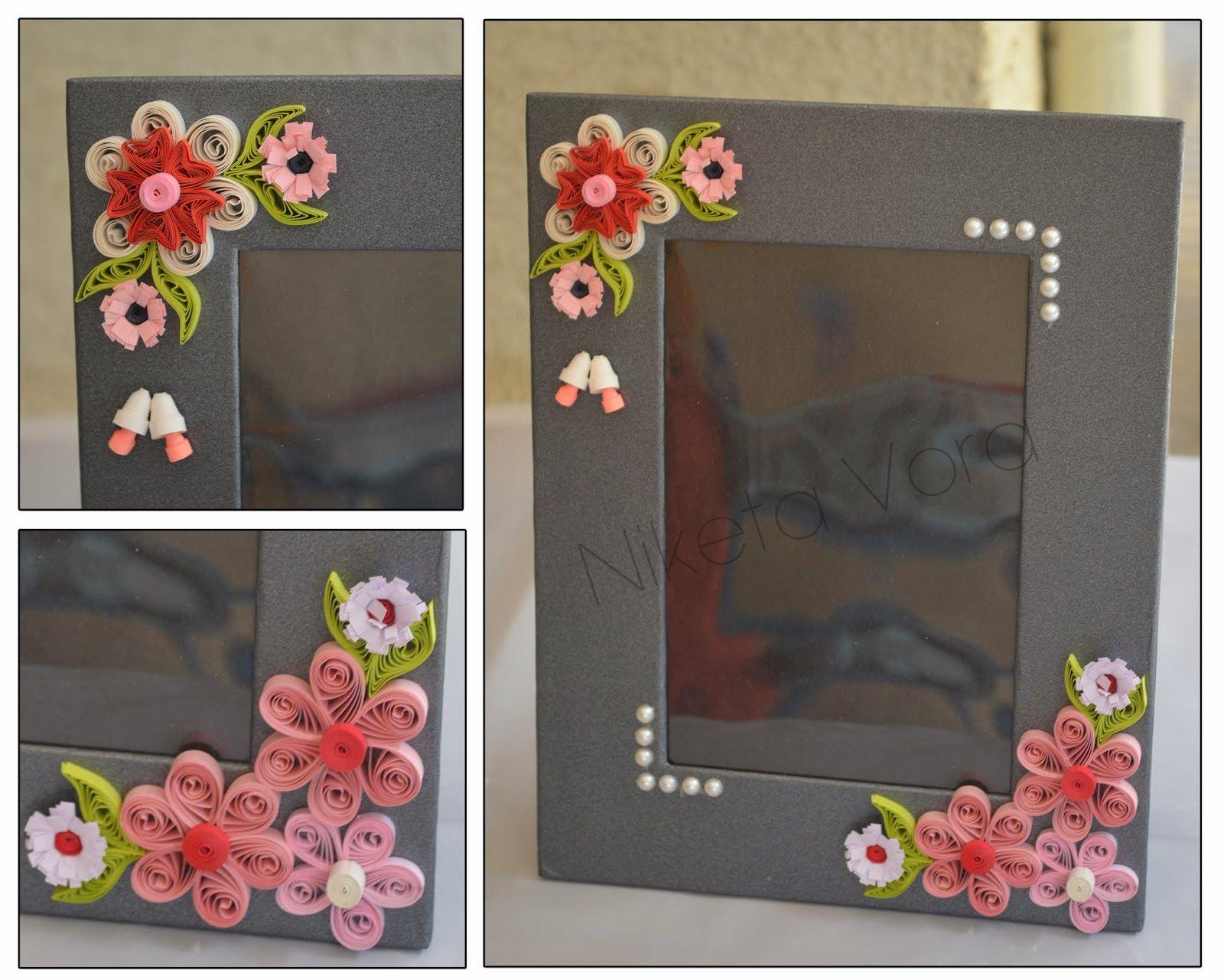 Niketa   creative corner quilled photo frame also best frames images cadre do crafts rh pinterest
