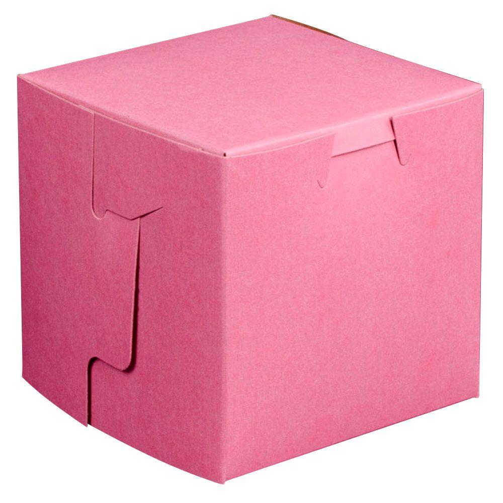 "Pink Cake / Bakery Box 4"" x 4"" x 4"" – 200 / Bundle"