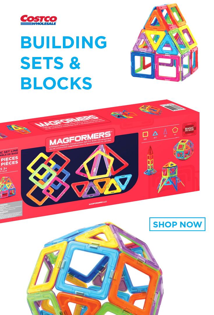 NEW Magformers 43 Piece Children/'s Intelligent Magnetic Construction Shapes Toy!