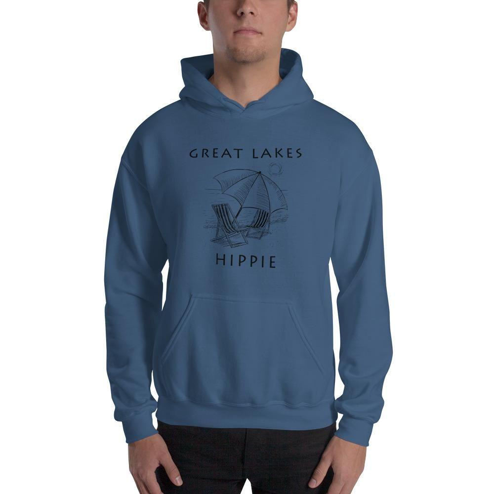 Great Lakes Beach Hippie Men S Hoodie In 2021 Hooded Sweatshirts Sweatshirts Unisex Hoodies [ 1000 x 1000 Pixel ]