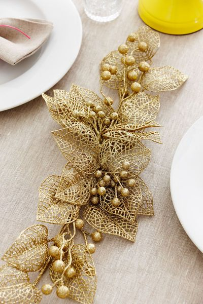 Styled Sealed Delivered — Christmas decoration, gold, event style