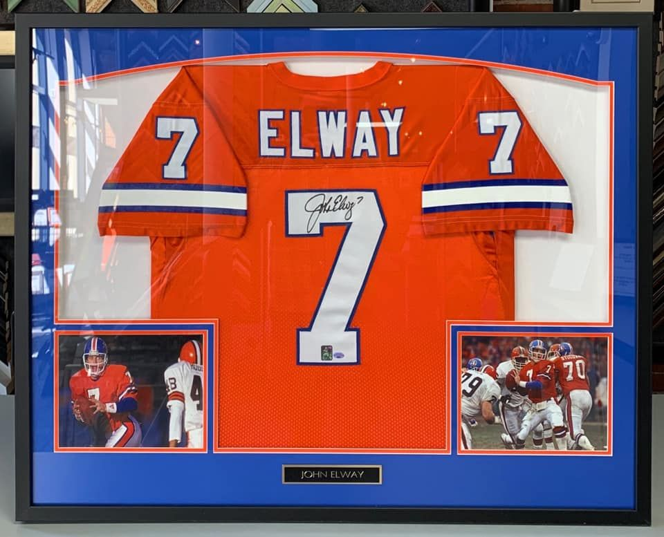 quality design 4d706 1900b 🧡🏈💙 Custom framed John Elway Orange Crush Denver Broncos ...