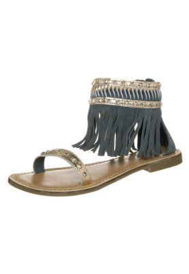 Varrelliset sandaalit - dark denim, want these!