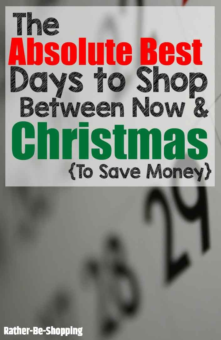 The BEST Days to Shop Between Now and Christmas to Score a Deal ...