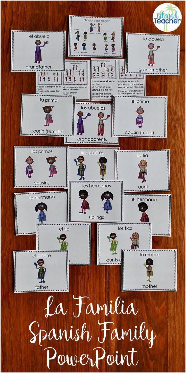 La Familia De Superheroes Spanish Family Powerpoint Lesson  # Los Muebles Powerpoint