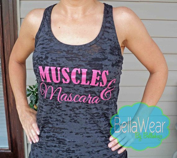 Muscles and Mascara - Burnout Racerback Tank - Tank Top - Fitness - Crossfit - Workout Tank - Gym