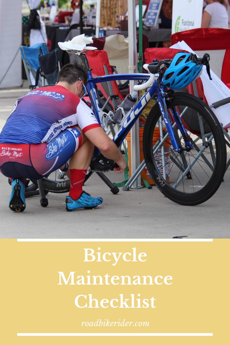 Bicycle Maintenance Checklist Bicycle Bike Bicycle Maintenance
