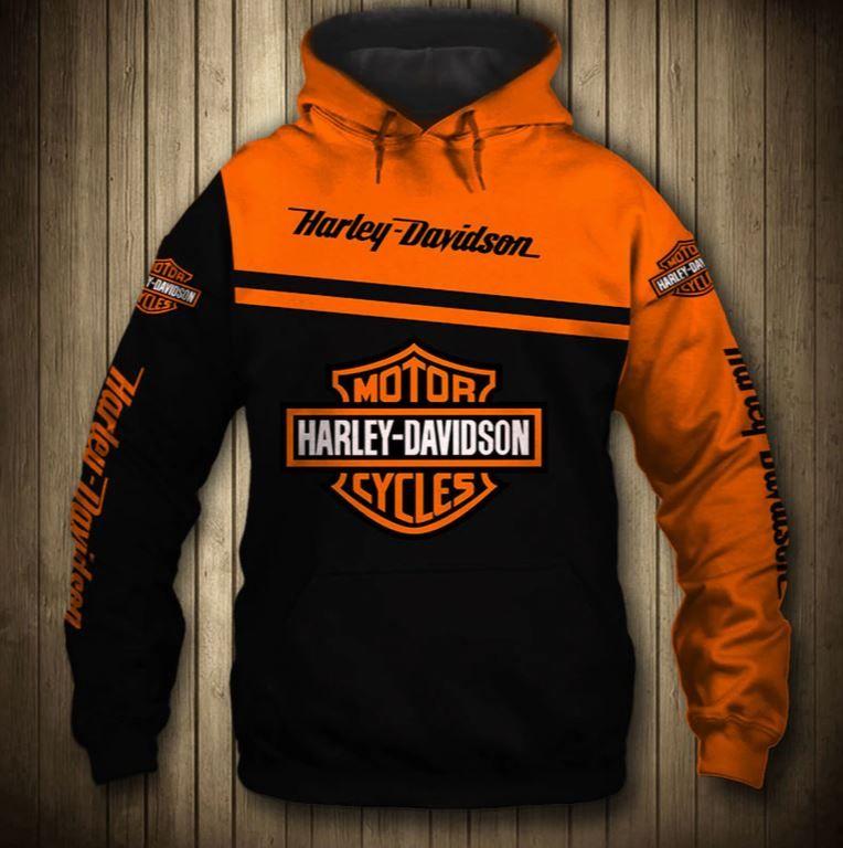 Harley davidson hoodies cute custom gift sweatshirt for
