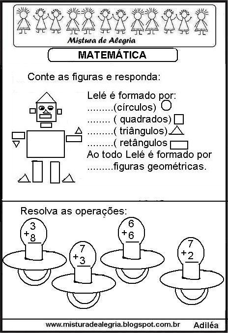 Atividade De Matematica Series Iniciais Alfabetizacao Imprim