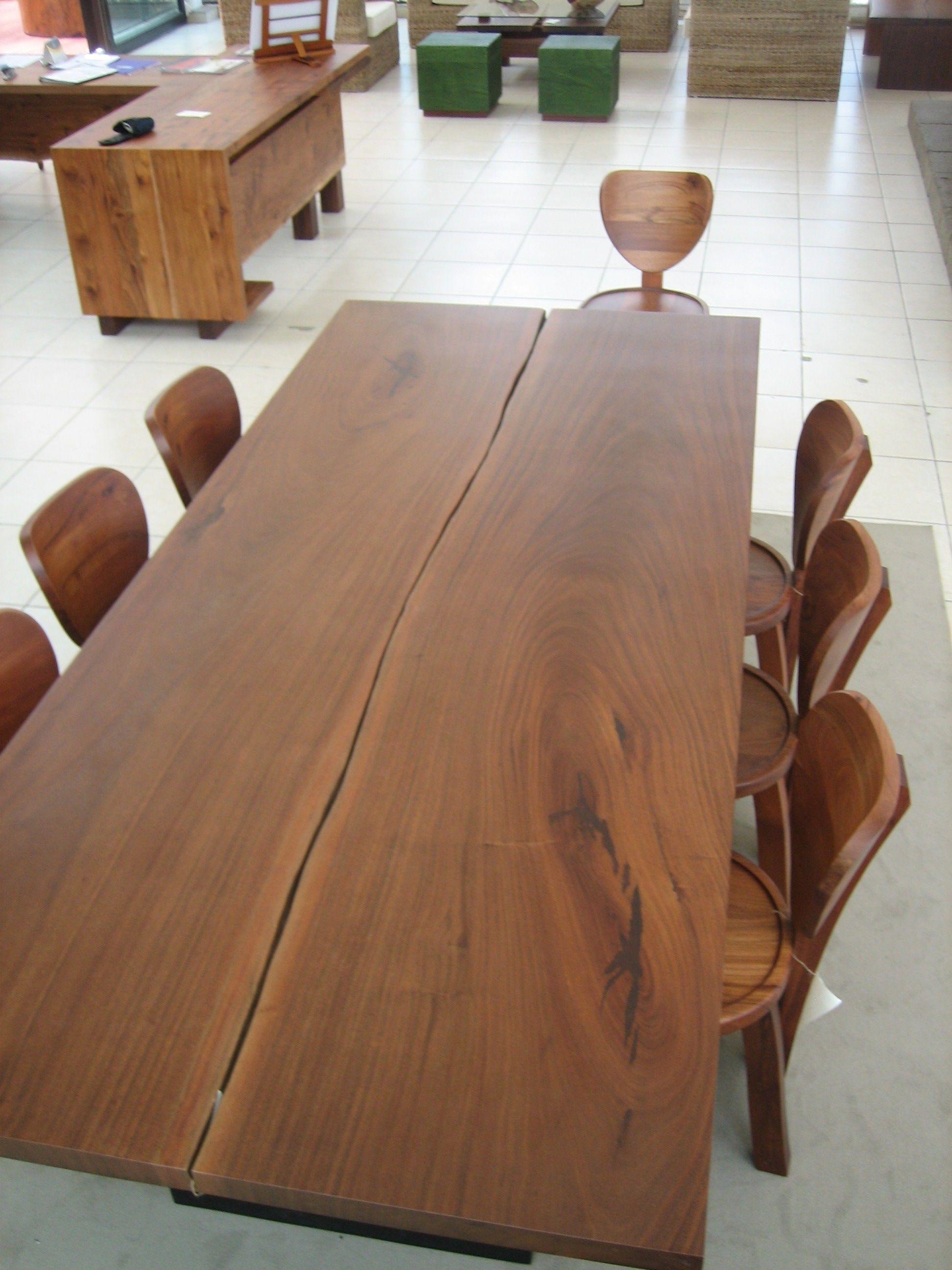 Mesa comedor 8pers.Linea Mombacho madera Nanciton | Maderas ...