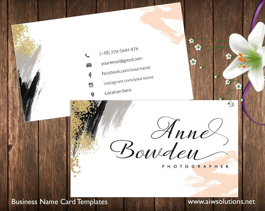 Name Card Easy Sided Text Change Name Cards Name Card Design