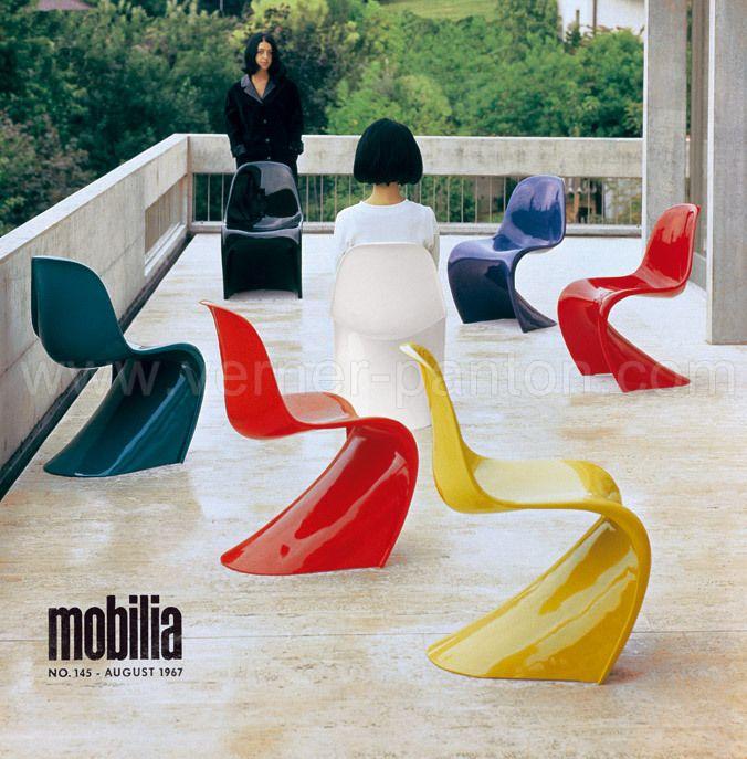 Panton Chair Vitra Unter Dem Label Herman Miller Hergestellt 1968 1971 2 Serie Polyurethan Hartschaum Mit Farb Panton Chair Danish Furniture Design Pantone