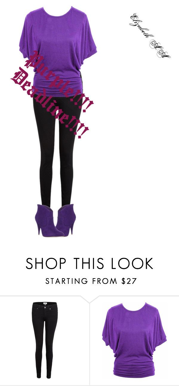 """""""Purple!!!! Deadline!!!!"""" by elirana-chase on Polyvore featuring Paige Denim"""