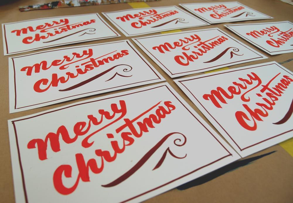 hand lettered christmas cards danthonia designs blog from our
