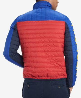 e30e8848 Tommy Hilfiger Men's Wilshire Colorblocked Insulator Jacket - Blue XXL