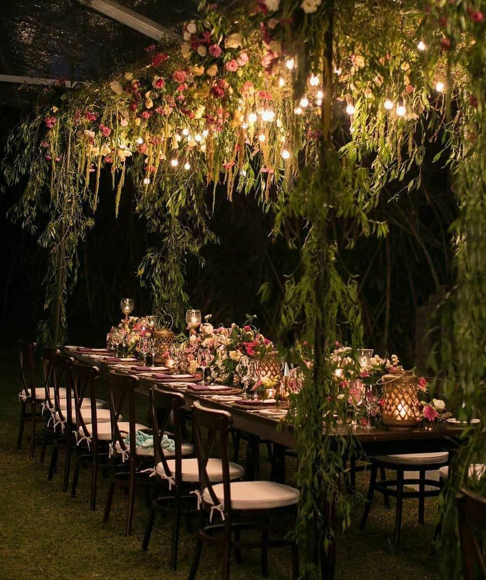 Weddings By Dimple Anaund On Instagram No Evening Function Is Complete Without The Presence Of A Gorgeous In 2020 Clifftop Wedding Luxury Event Decor Wedding Lights