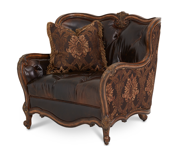 Leather Fabric Chair And A Half Grp2 Opt1 Lavelle
