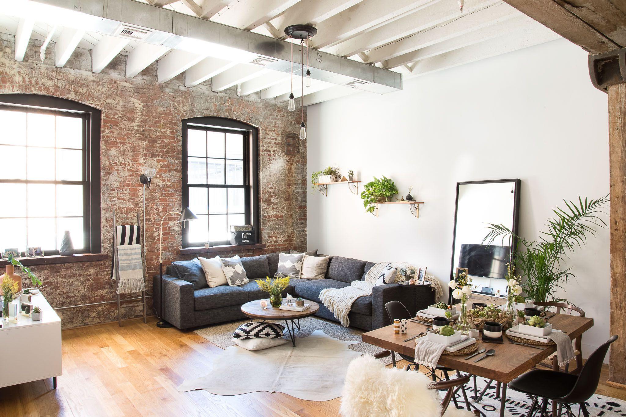 Rustic, Industrial Living Room Vibes   Rustic industrial, Industrial ...
