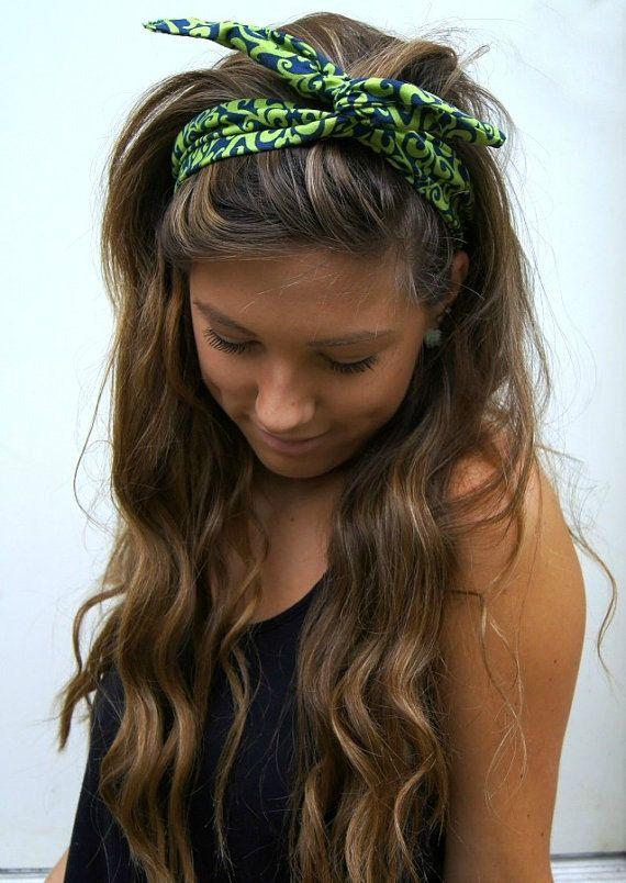 Rockabilly Headband Wired Dolly Bow Pin Up Headwrap Hair Hair