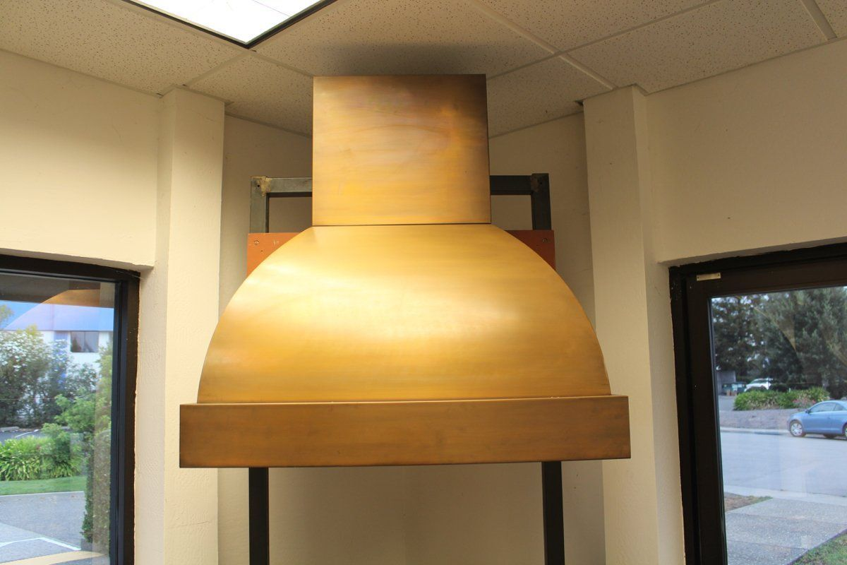 "Display Copper Range Hood 36"" wide for 9 foot ceiling ..."