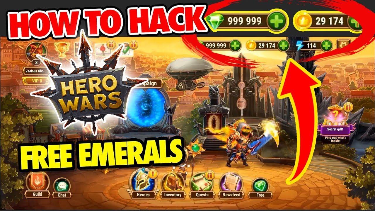 Hero Wars Hack Emeralds 2020 Free Gift Hacks Hero Download Hacks