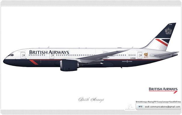 BRITISH AIRWAYS BOEING 737-236 AIRLINER ART PRINT
