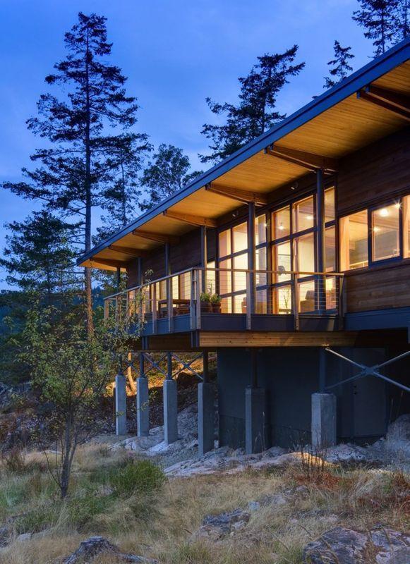 Superbe maison en bois sur pilotis avec vue imprenable sur le fleuve - Maison En Bois Sur Pilotis