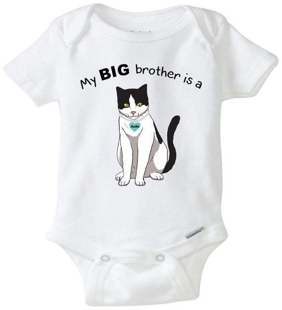 Handmade Cat Baby Clothes Cat Baby Clothes Cat Baby Bodysuit Kitty Onesie Custom Cats Kitten Baby Gift Cat Onesie Cat Shower Gift