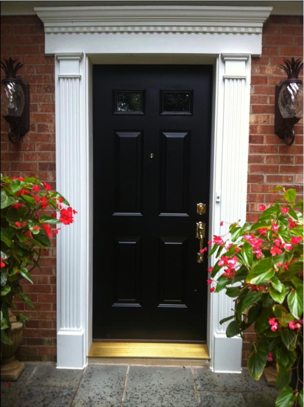 Front door trim images provia front door and fypon trim for Exterior door pediment and pilasters