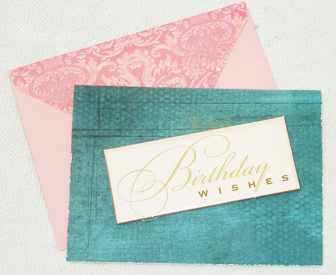 Handmade elegant happy birthday wishes greeting card products