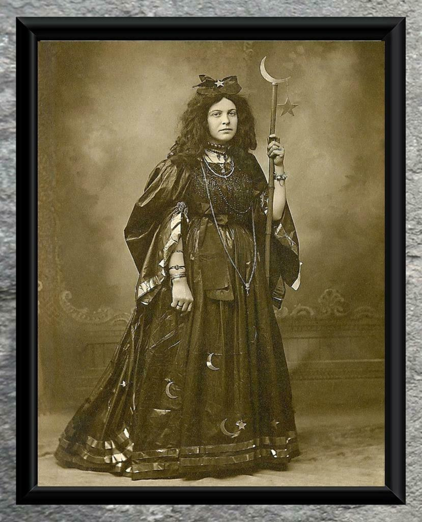 Mystic.. Antique Photo Print Wiccan Witch ..