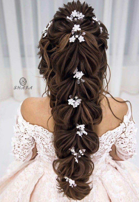 Gorgeous Wedding Hair Style By Shafa Studio Hair Styles Flower Girl Dresses Wedding Dresses Lace