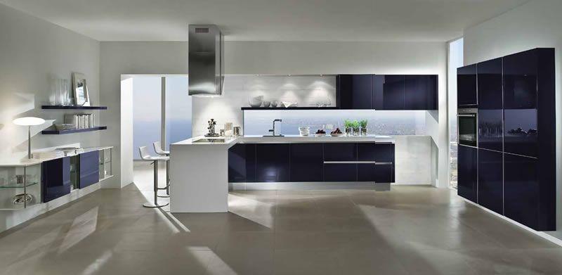 Modern glass kitchen cocina moderna de cristal cocinas - Cocinas en ele pequenas ...