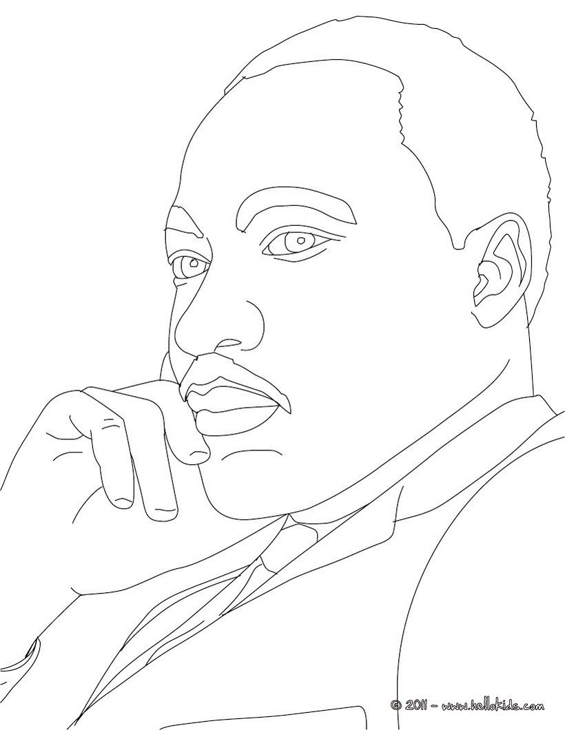 Martin Luther King Jr Coloring Page Mystery Of History 4