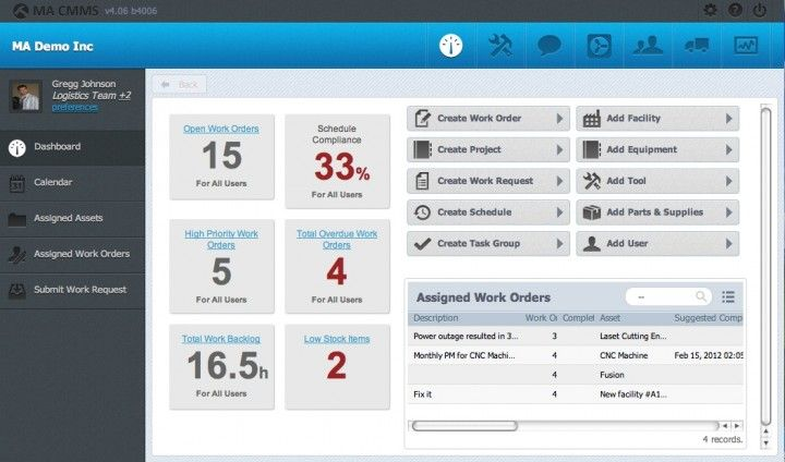 Check out Maintenance Assistant CMMS in our list of The 5 Top Free