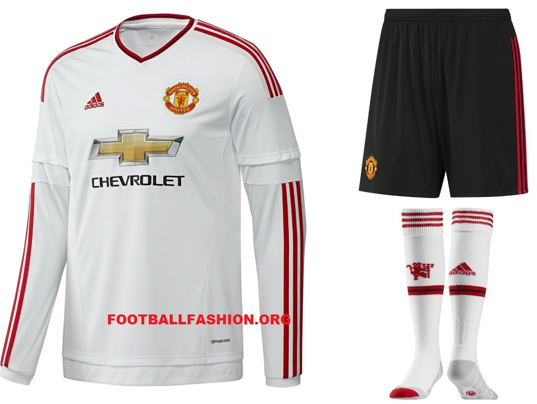 e8b84f43e92 Manchester United FC White 2015 2016 adidas Away Football Kit. Find this  Pin and more on soccer shirts ...