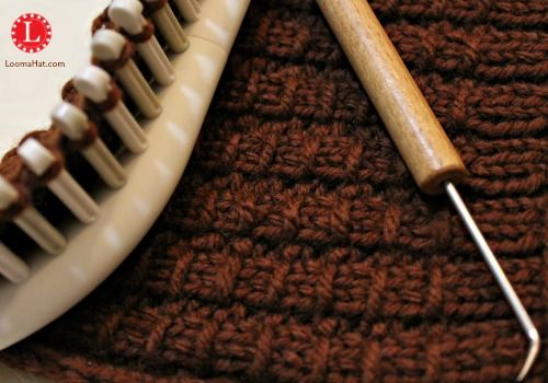 Bamboo Stitch On Any Knitting Loom Free Pattern With A Step By Step